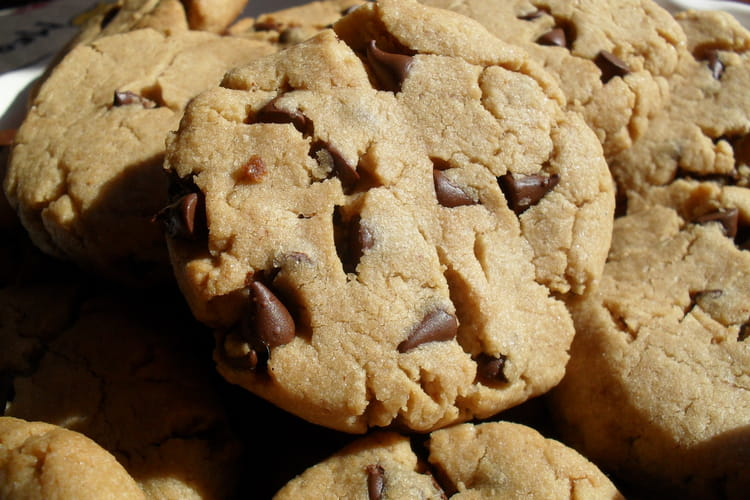Cookies au beurre de cacahuètes et pépites chocolat