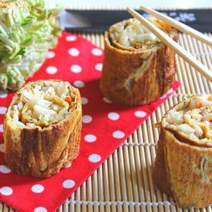 crêpes d'oeufs à la japonaise crabe et céleri