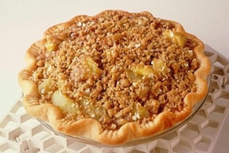 Tarte rustique aux pommes gratinées