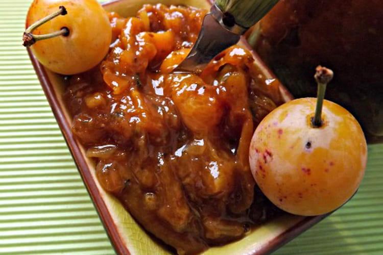 Chutney mirabelle, épices cajun et curry