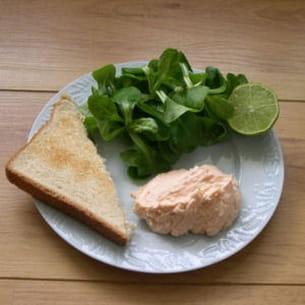 rillettes de saumon fumé au fromage frais
