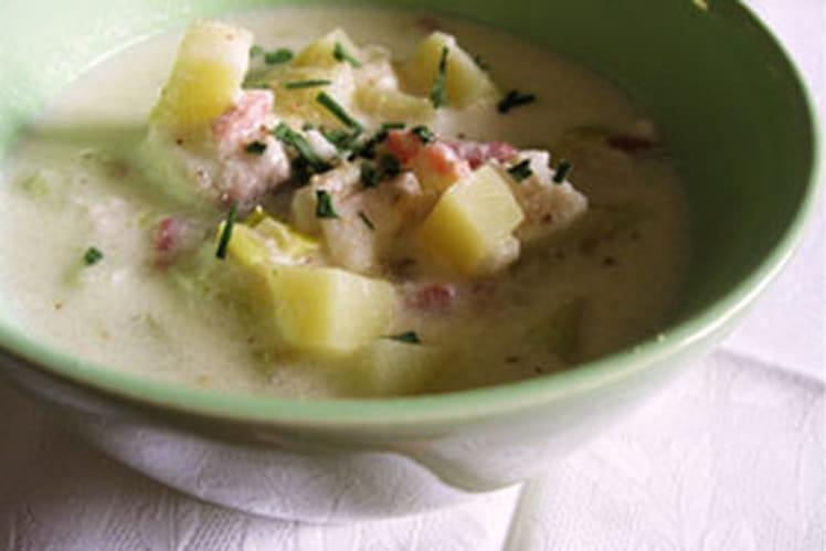 Chowder, soupe de poisson américaine