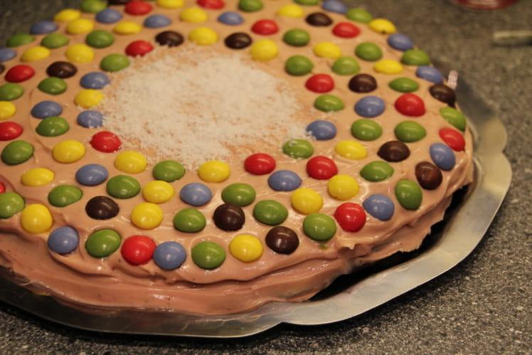 Gâteau d'anniversaire aux deux chocolats et coco