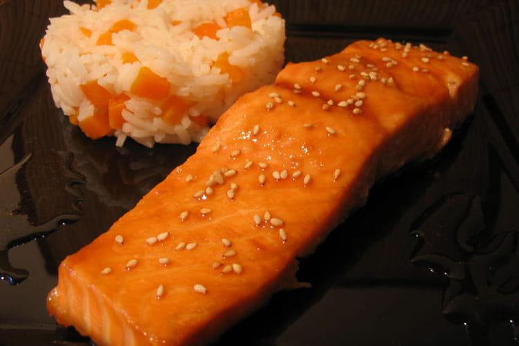 Saumon au soja et au sirop d'érable