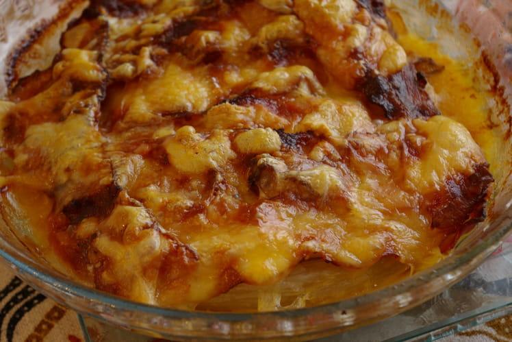 Gratin d'endives au maroilles et aux pommes
