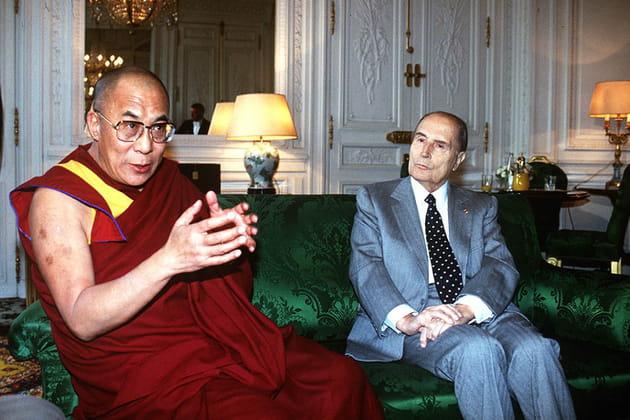 Avec le Dalai Lama, en 1993