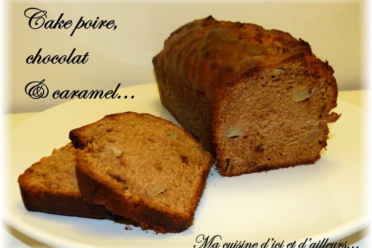Cake poires, chocolat & caramel