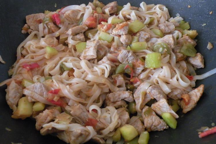Wok de porc aux légumes