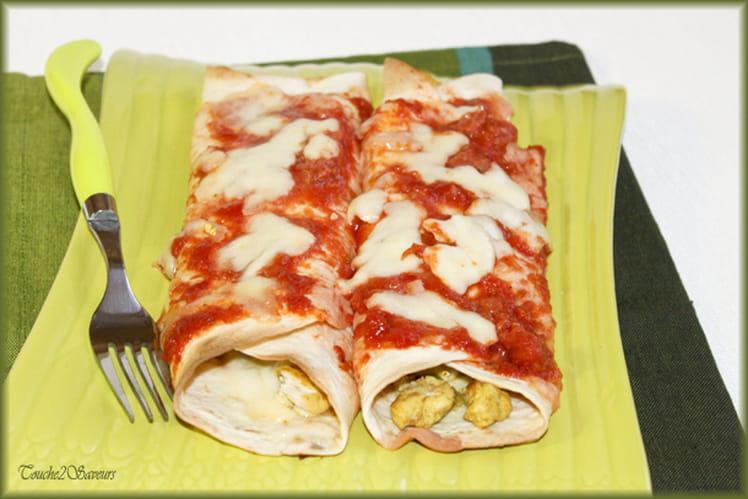 Enchiladas poulet, poivron, mozzarella