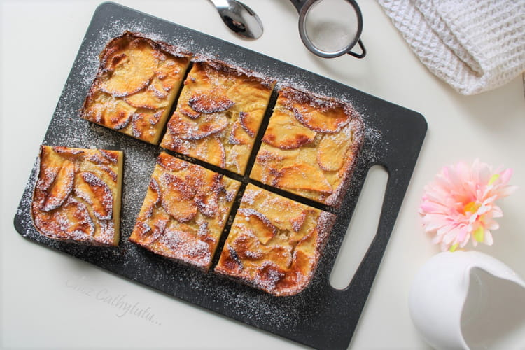 Clafoutis aux pommes vanillées