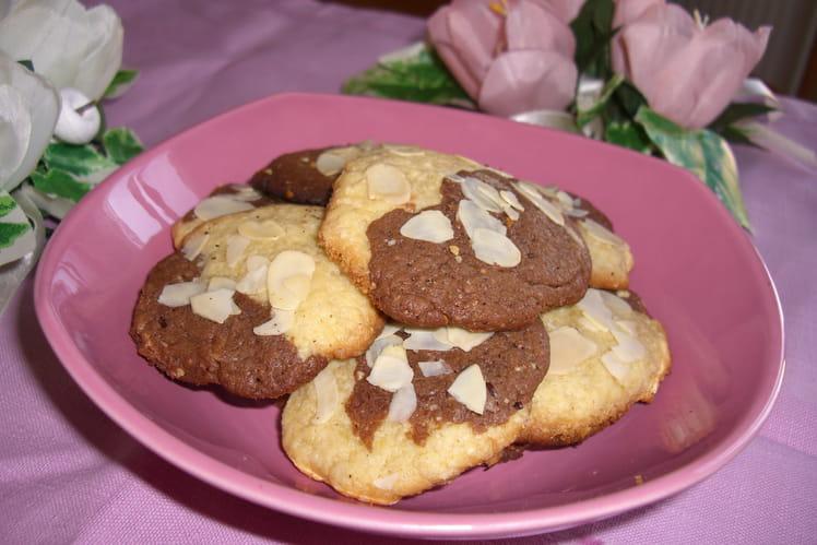 Cookies marbrés vanille chocolat