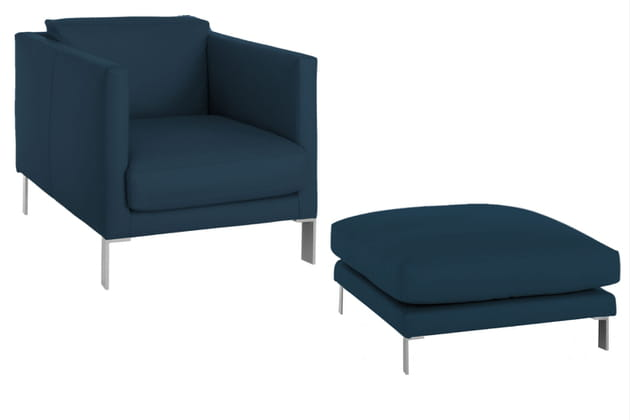 Un duo fauteuil et ottoman design