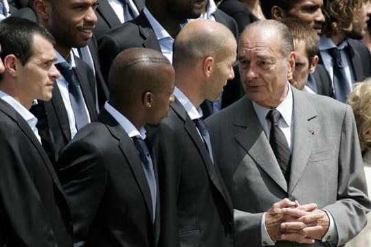 Jacques Chirac avec Zizou