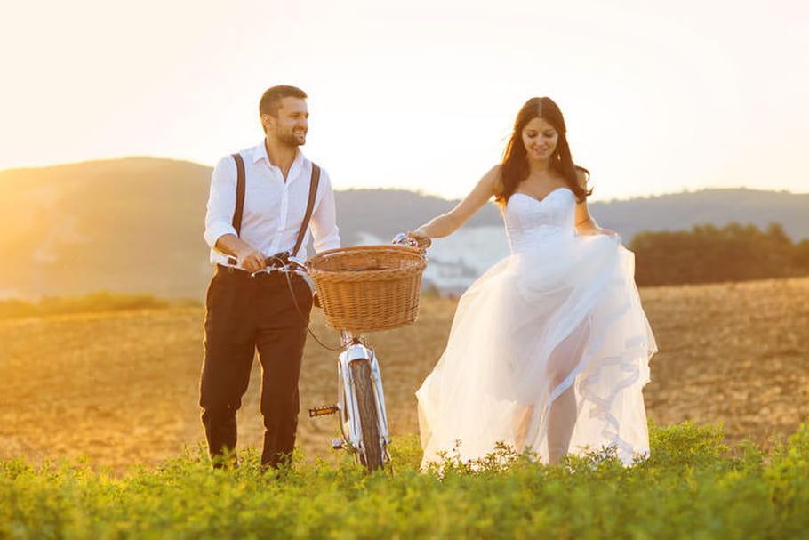 Un mariage bucolique sur le thème de la nature