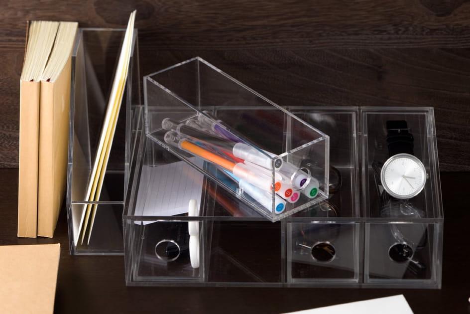 Boîte acrylique 4tiroirs deMuji