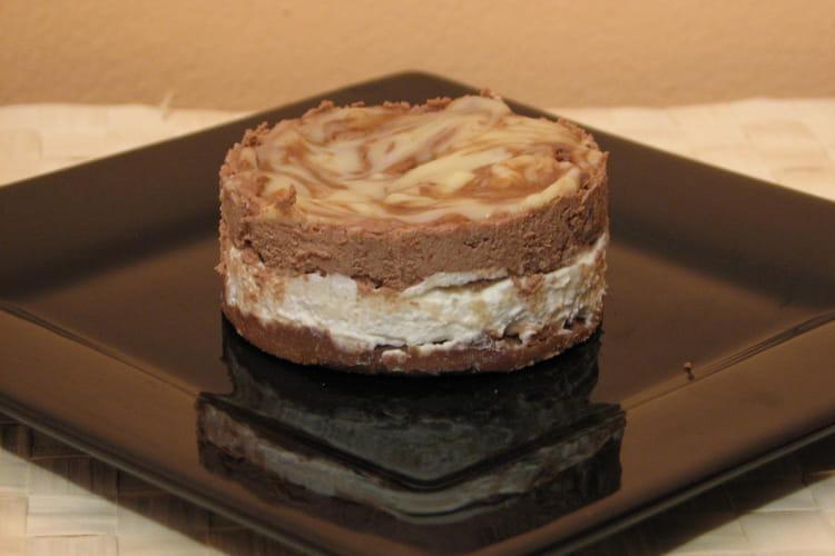 Dessert glacé aux 2 chocolats