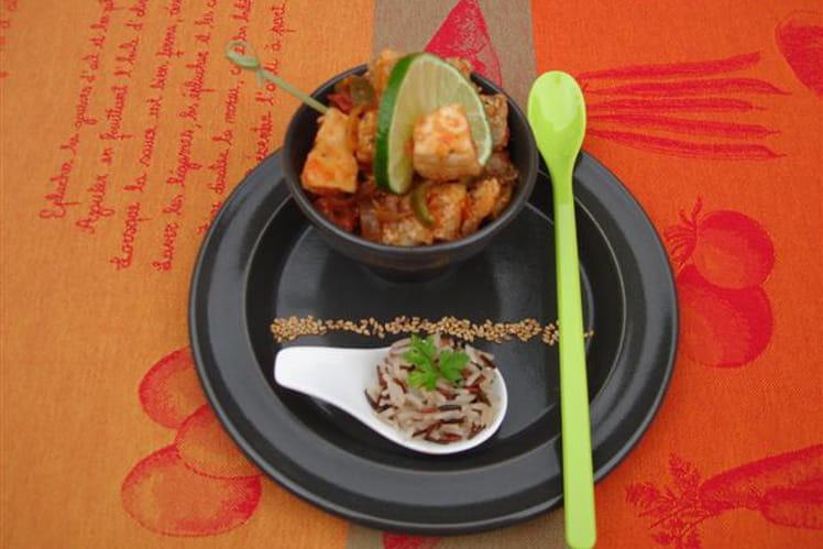 Wok d'espadon et poivron pimenté au gingembre et soja