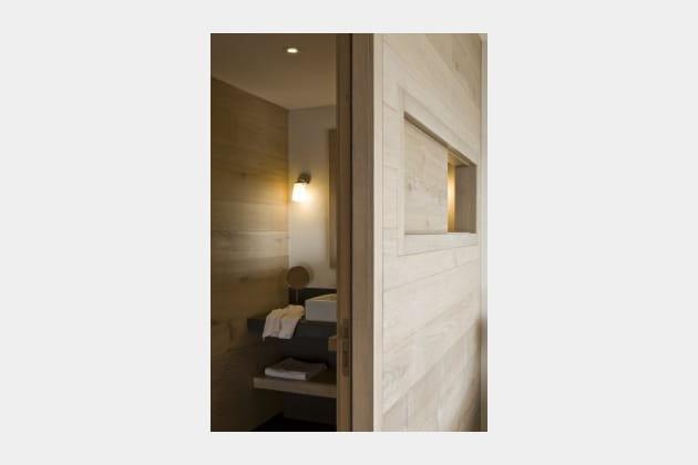 Salle de bains cabane