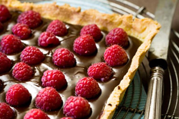Tarte chocolat-framboises 100% maison