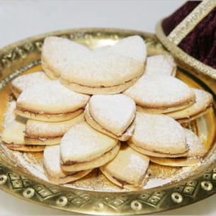 sablé à la noix de coco fourré au nutella