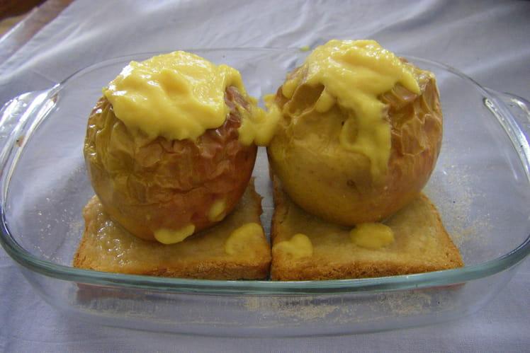 Pommes au four saveur vanille et rhum
