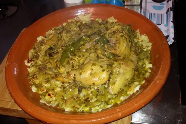 Rfissa de poulet à la marocaine