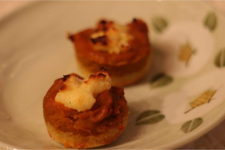 Tartelettes de potiron au fromage