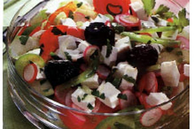 Salade fraîche au chèvre