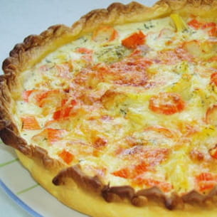 tarte aux artichauts et au surimi