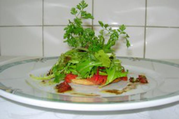 Tarte de tomates confites