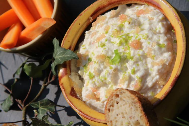 Rillettes de merlu au fromage frais, gingembre et agrumes