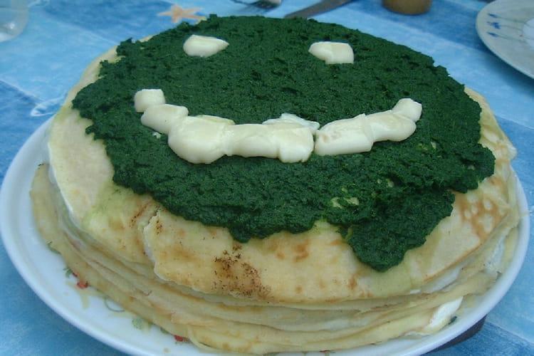 Gâteau de crêpes au fromage blanc