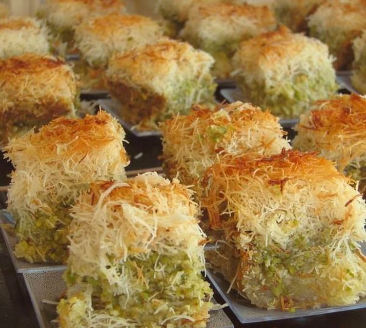 Recette de kadaifs aux amandes noix et pistaches la - Recette de cuisine libanaise avec photo ...