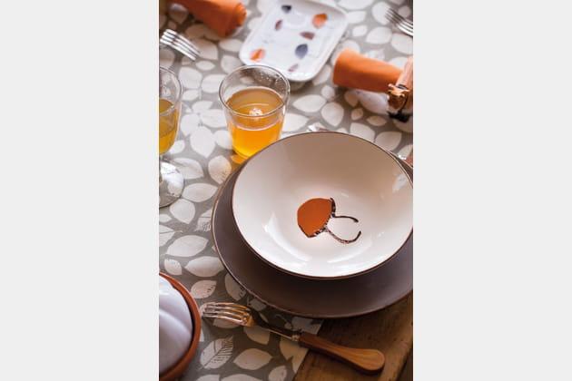 Assiette creuse Champignon par Botanic