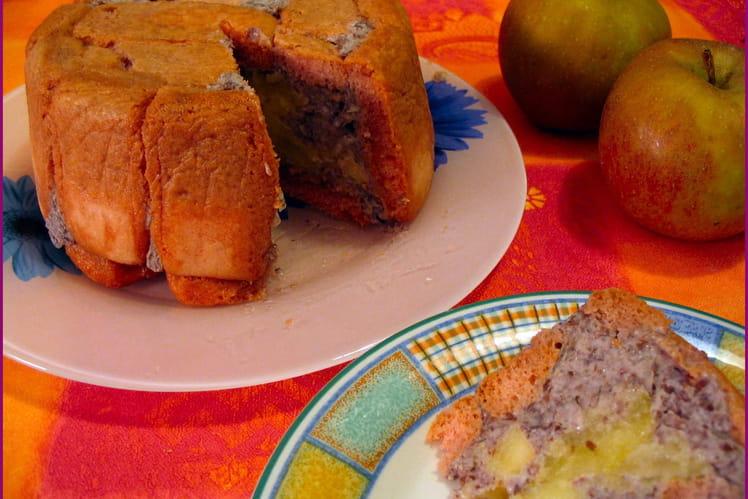 Charlotte aux haricots azukis et pommes