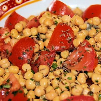 salade de pois chiches à l'orientale