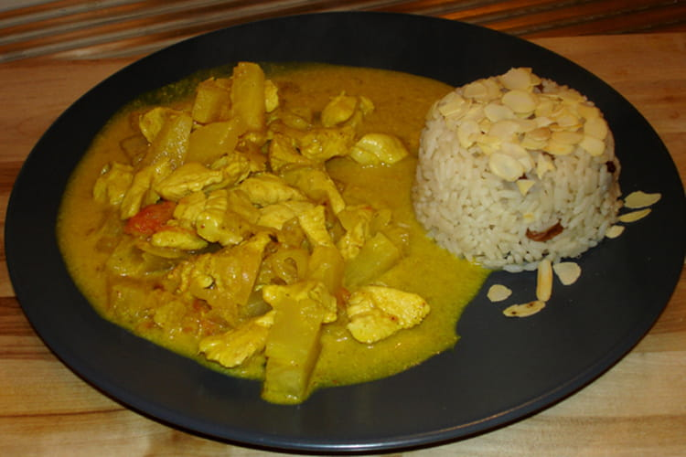 Poulet coco curry ananas