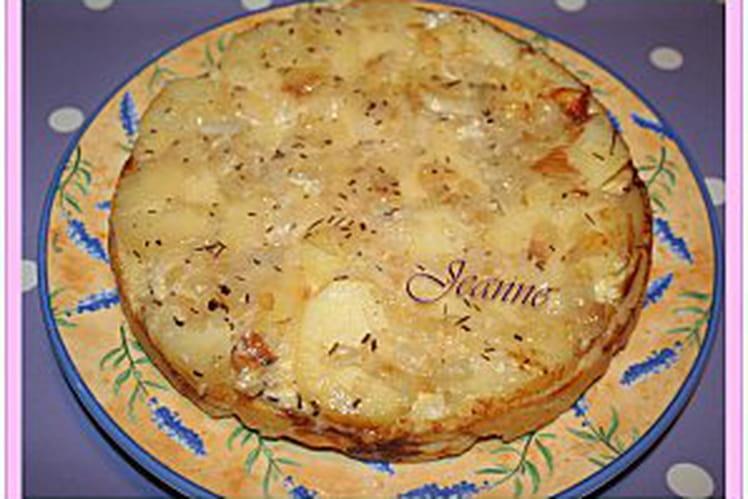 Tatin aux pommes de terre et brie