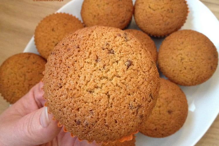 Cupcakes aux pépites de chocolat et noix de coco