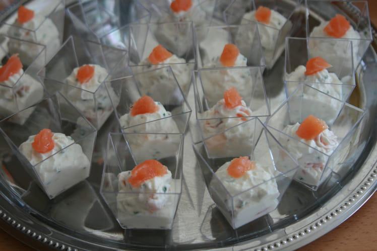 Verrines saumon-ricotta