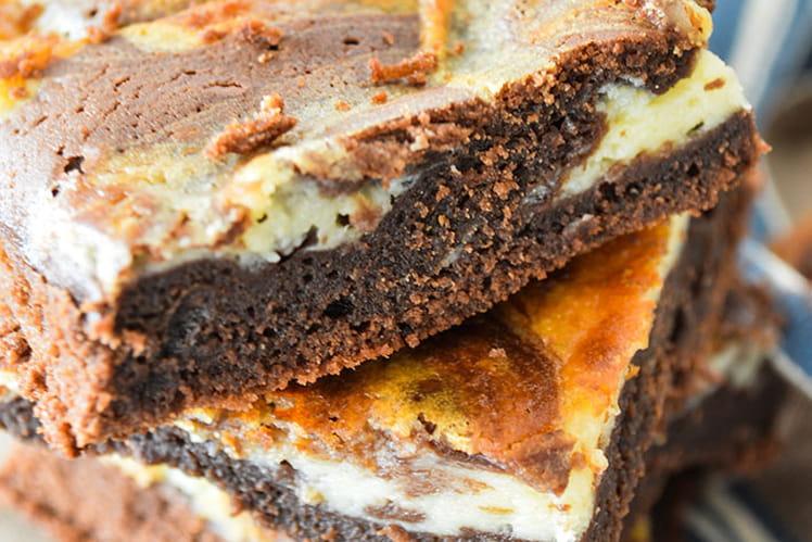 Brownie marbré chocolat noir et blanc