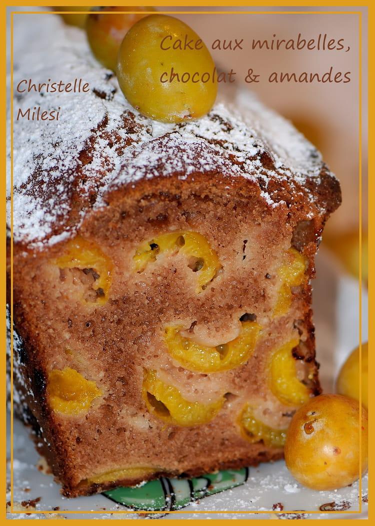 Recette de cake aux mirabelles chocolat amandes la recette facile - Recette avec des mirabelles ...