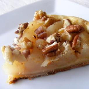 tarte pommes, poires et fruits oléagineux