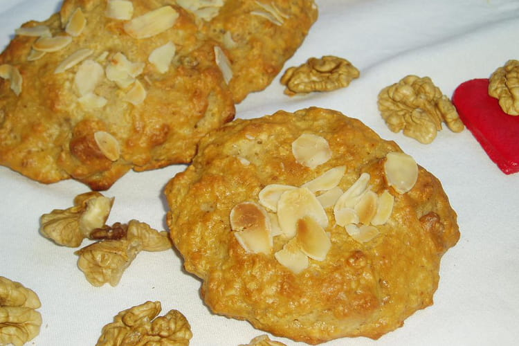 Cookies aux noix et à la vanille