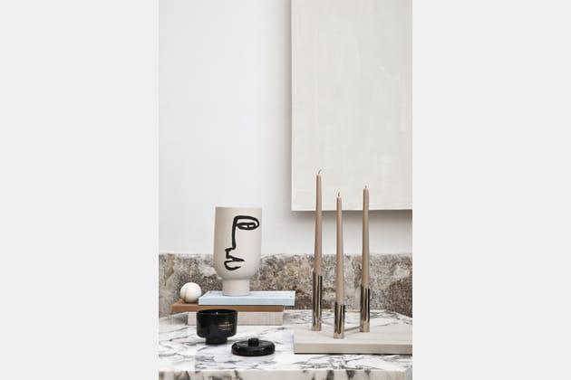 vase et bougeoir h m home. Black Bedroom Furniture Sets. Home Design Ideas