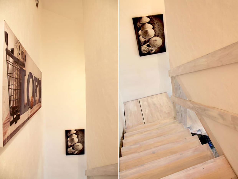 escaliers en noir et blanc. Black Bedroom Furniture Sets. Home Design Ideas