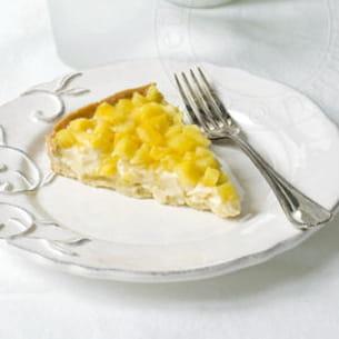 tarte ananas, crème chocolat blanc-coco-passion