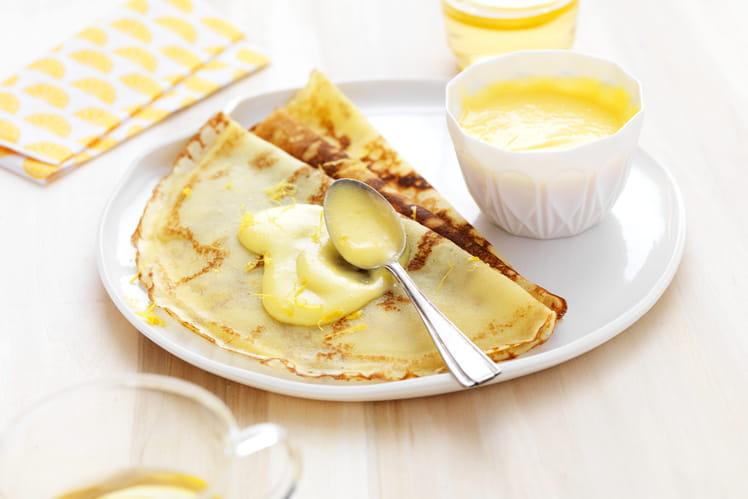 Crêpes sans gluten à la crème de citron