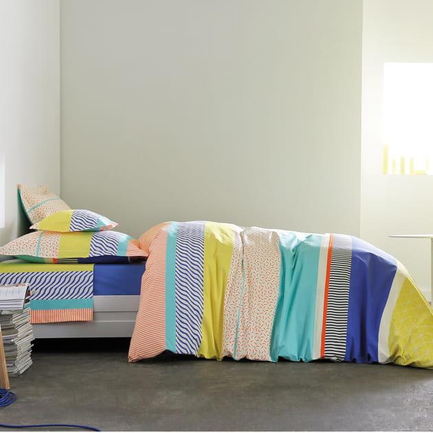 parure de lit saint malo bleu royal de blanc des vosges. Black Bedroom Furniture Sets. Home Design Ideas