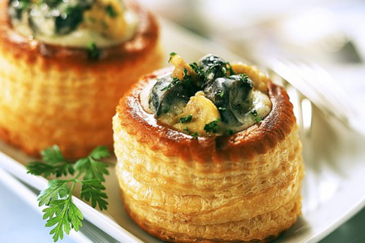 Vol au Vent d'escargot au Riesling